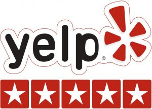 Rated 5 Stars on Yelp